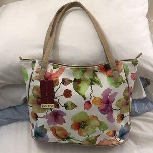 BLOWOUT SALE! Large watercolor floral purse
